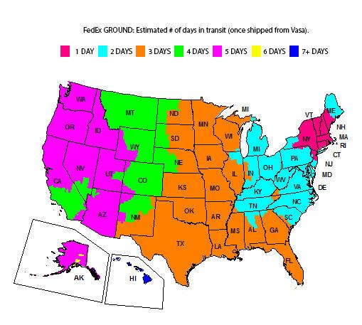 FedEx_Ground_Map