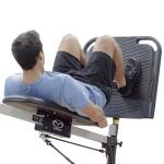 Athlete performing leg squat on Vasa Leg Power Platform