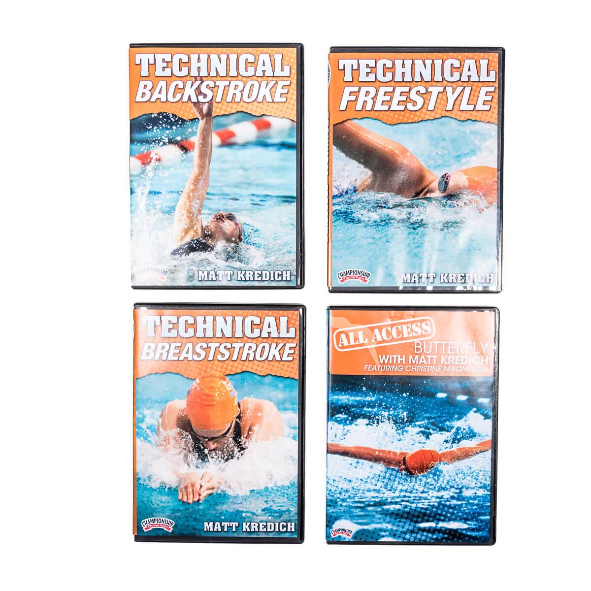 four swim technique DVD case jackets
