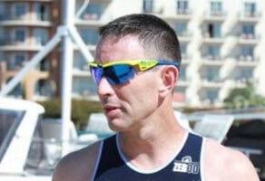 Male sunglasses at triathlon
