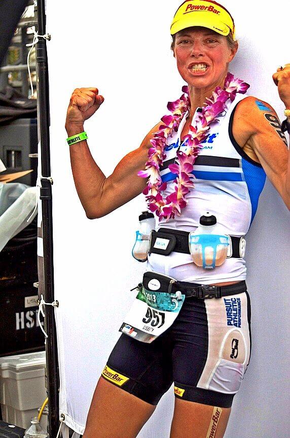 female triathlete Kona podium