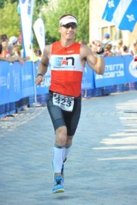 Ian Kurth completing Ironman Mont Tremblant 2015