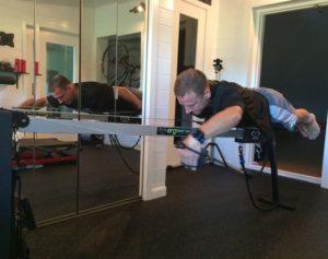 Ian did most of his Ironman training on the Vasa SwimErg