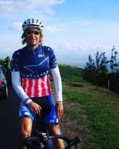 Male Triathlete on bike