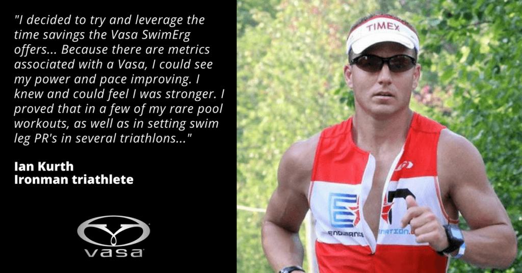 Male triathlete running