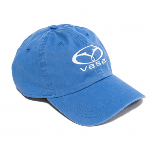 blue hat with white Vasa stitched logo