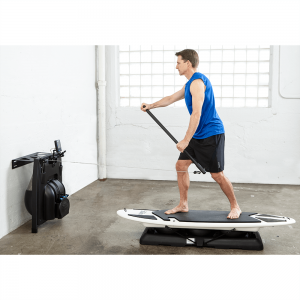 SUP paddling with indoor erg & SurfSet Board