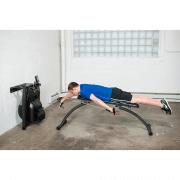 Compact indoor swim training bench man swimming