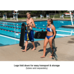 swimmers with portable swim bench