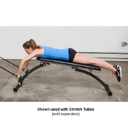 portable swim training bench with stretch cords
