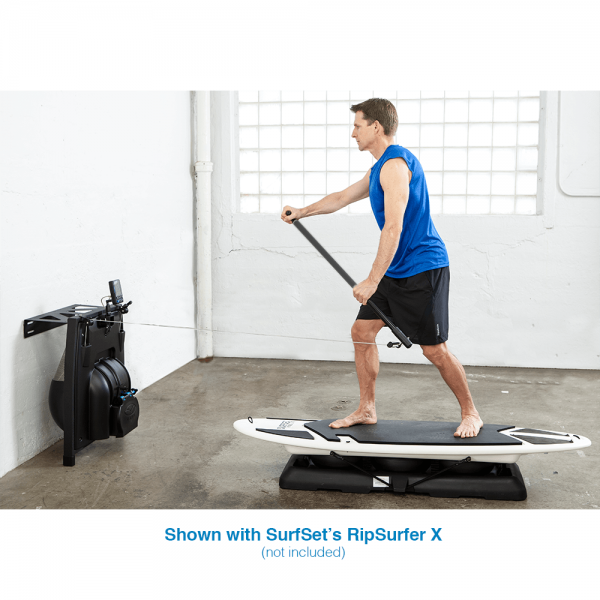 Man training on Indoor Paddle Trainer