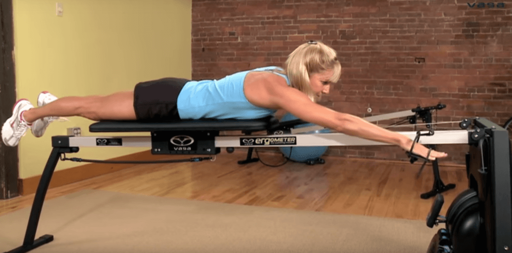 practice the stretch, catch, and pull on the Vasa SwimErg