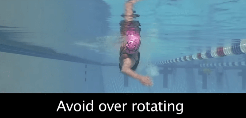 Avoid over rotating during freestlye