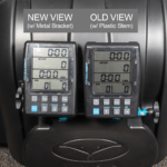 side by side comparison of Vasa SwimErg monitor display