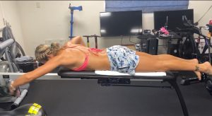 Kelsey Withrow Pandemic Swim Training
